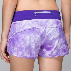 Sale! Purple lululemon speed up shorts